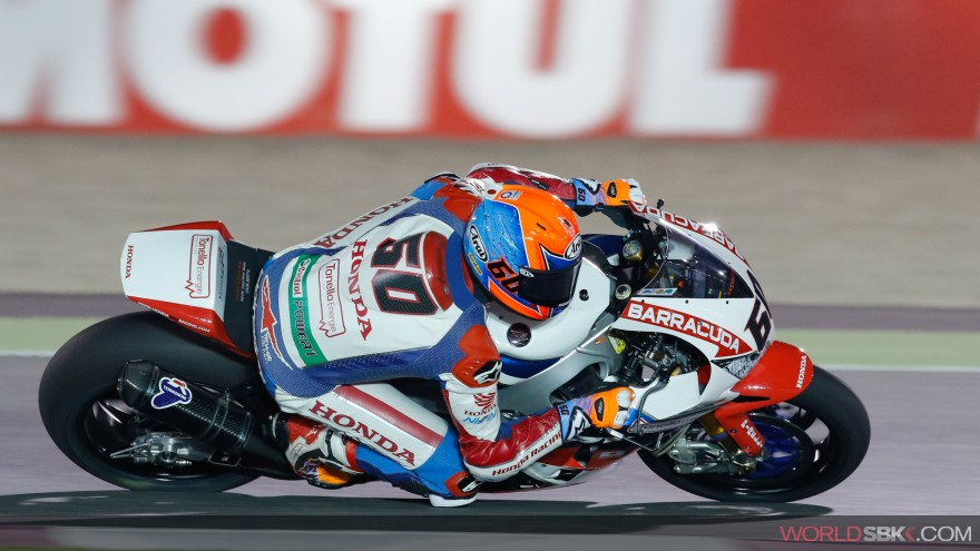 Michael vd Mark, Honda World Superbike Team, Losail FP1
