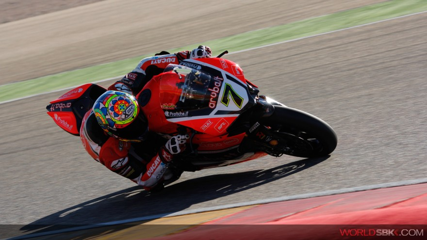 Chaz Davies, Aruba.it Racing-Ducati, Aragon Test