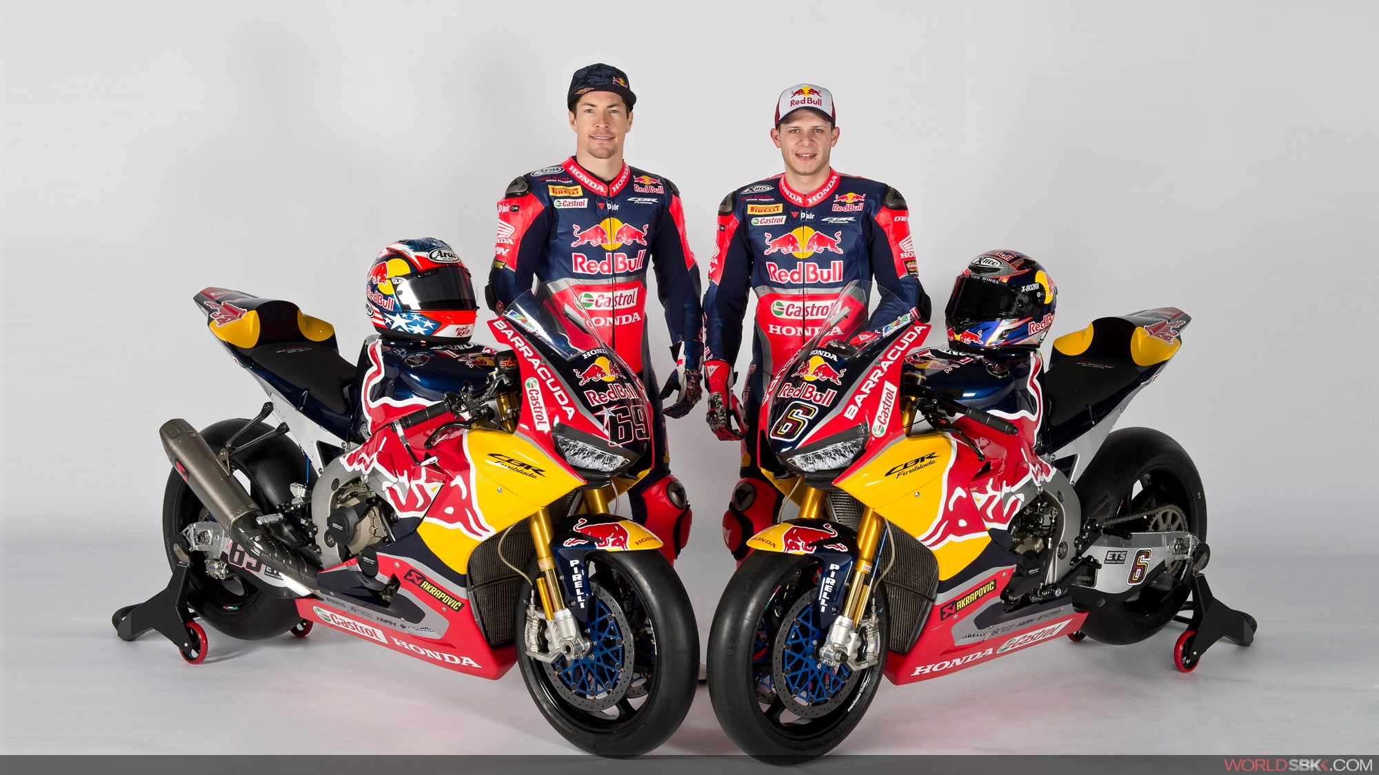 Nicky Hayden e Stefan Bradl, piloti del team Red Bull Honda World Superbike, foto: worldsbk.com