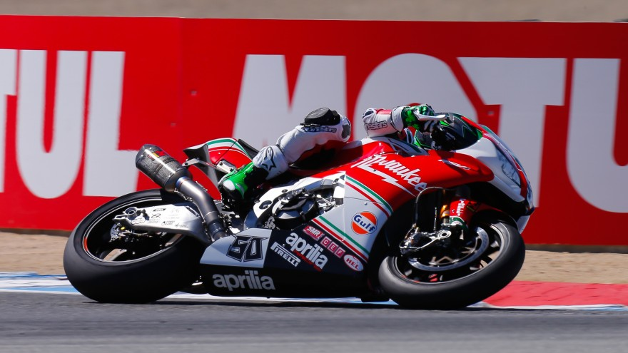 Eugene Laverty, Milwaukee Aprilia, Laguna SEca FP1