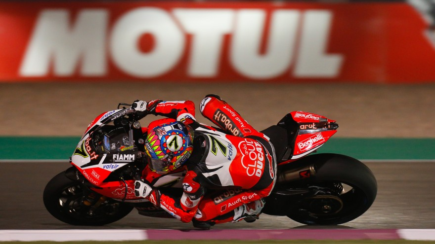 Chaz Davies, Aruba.it Racing - Ducati, Losail FP1