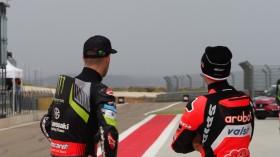 Jonathan Rea, Kawasaki Racing Team WorldSBK, Marco Melandri, Aruba.it Racing - Ducati, Aragon FP3