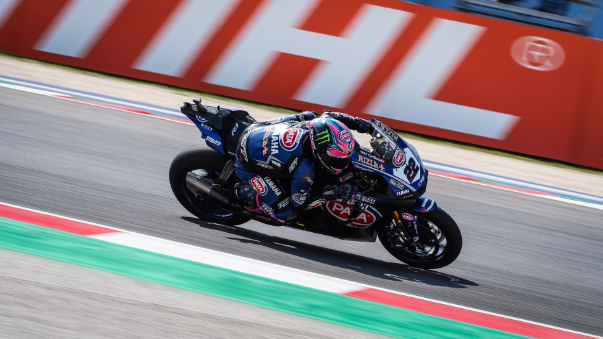 Alex Lowes, Pata Yamaha Official WorldSBK Team, Misano FP1