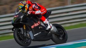 Chaz Davies, Aruba.it Racing - Ducati, Jerez test Day 1