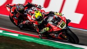 Alvaro Bautista, Chaz Davies, Aruba.it Racing-Ducati, Assen FP2