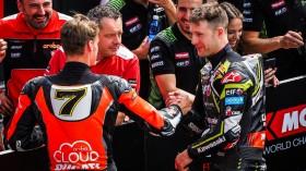Chaz Davies, Aruba.it Racing-Ducati, Jonathan Rea, Kawasaki Racing Team WorldSBK, Imola Tissot Superpole