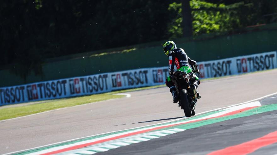 Tom Edwards, Kawasaki ParkinGO Team, Imola FP2