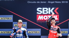 Michael van der Mark, Pata Yamaha WorldSBK Team, Alvaro Bautista, Aruba.it Racing-Ducati, Jerez RACE 1