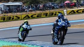 Corentin Perolari, GMT94 Yamaha, Peter Sebestyen, CIA Landlord Insurance Honda, Jerez RACE