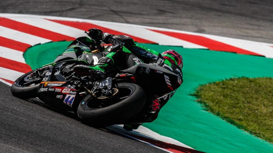 Lucas Mahias, Kawasaki Pucceti Racing, Misano FP2