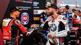 Alvaro Bautista, Aruba.it Racing-Ducati, Tom Sykes, BMW Motorrad WorldSBK Team, Misano RACE 1