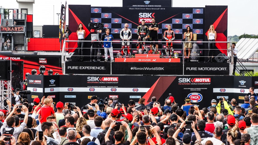 WorldSBK, Misano Podium