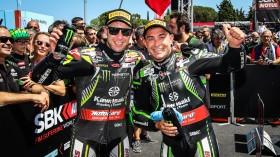 Jonathan Rea, Leon Haslam, Kawasaki Racing Team WorldSBK, Misano RACE 2