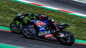Leon Haslam, Kawasaki Racing Team WorldSBK, Alex Lowes, Pata Yamaha WorldSBK Team, Misano RACE 2