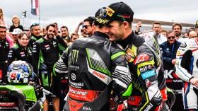 Jonathan Rea, Leon Haslam, Kawasaki Racing Team WorldSBK, Donington RACE 1
