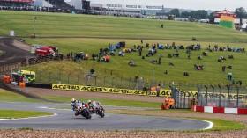 Peter Hickman, BMW Motorrad WorldSBK Team, Leandro Mercado, Orelac Racing VerdNatura, Donington RACE 1