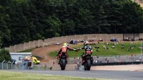 Alvaro Bautista, Aruba.it Racing - Ducati, Jonathan Rea, Kawasaki Racing Team WorldSBK, Donington RACE 2