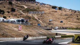 Chaz Davies, Aruba.it Racing - Ducati, Jonathan Rea, Kawasaki Racing Team WorldSBK, Laguna Seca RACE 2