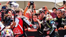 Chaz Davies, Aruba.it Racing - Ducati, Jonathan Rea, Kawasaki Racing Team WorldSBK, Laguna Seca RACE 2