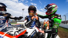Kyle Smith, Team Pedercini Racing, Lucas Mahias, Kawasaki Puccetti Racing, Magny-Cours RACE