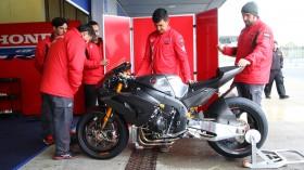 Team HRC, Jerez Test Day 1