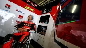 Chaz Davies, Aruba.it Racing - Ducati, Portimao Test Day 1