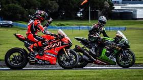 Scott Redding, Aruba.it Racing - Ducati, Alex Lowes, Kawasaki Racing Team WorldSBK, Phillip Island RACE 2
