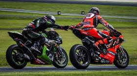Alex Lowes, Kawasaki Racing Team WorldSBK, Scott Redding, Aruba.it Racing - Ducati, Phillip Island RACE 2