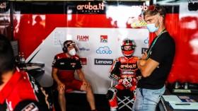 Chaz Davies, Aruba.it Racing - Ducati, Portimao Tissot Superpole