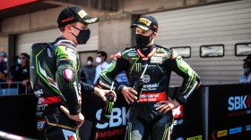 Alex Lowes, Jonathan Rea, Kawasaki Racing Team WorldSBK, Portimao Tissot Superpole