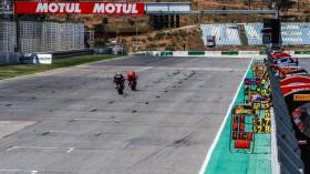 Scott Redding, Aruba.it Racing - Ducati, Michael van der Mark, Pata Yamaha WorldSBK Official Team, Portimao RACE 2