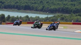 Jules Cluzel, GMT94 Yamaha, Philipp Oettl, Kawasaki Puccetti Racing, Aragon RACE 2