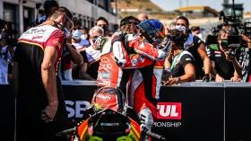 Chaz Davies, Aruba.it Racing - Ducati, Michael Ruben Rinaldi, Team GOELEVEN, Teruel RACE 1