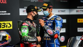 Jonathan Rea, Kawasaki Racing Team WorldSBK, Toprak Razgatlioglu, Pata Yamaha WorldSBK Official Team, Catalunya Tissot Superpole