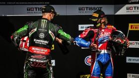 Jonathan Rea, Kawasaki Racing Team WorldSBK, Alvaro Bautista, Team HRC, Catalunya Tissot Superpole