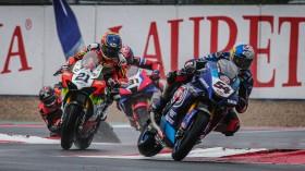 Toprak Razgatlioglu, Pata Yamaha WorldSBK Official Team, Michael Ruben Rinaldi, Team GOELEVEN, Magny-Cours RACE 1