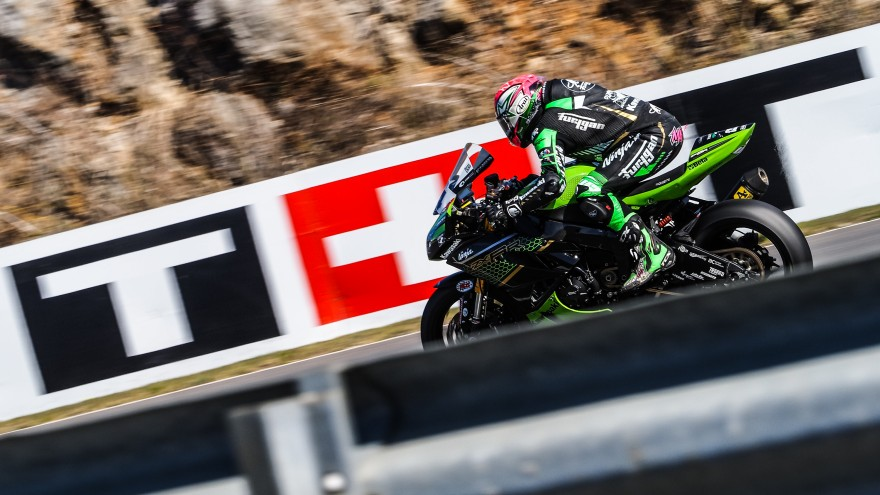 Lucas Mahias, Kawasaki Pucceti Racing, Estoril FP1