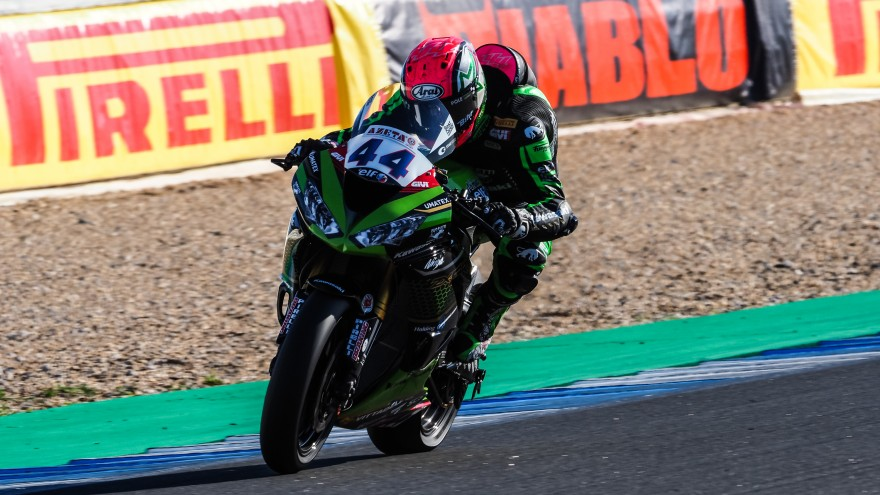 Lucas Mahias, Kawasaki Pucceti Racing, Estoril FP2