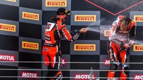 Scott Redding, Chaz Davies, Aruba.it Racing - Ducati, Estoril RACE 2