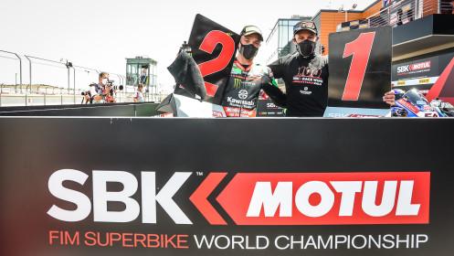Jonathan Rea, Alex Lowes, Kawasaki Racing Team WorldSBK, Aragon RACE 1
