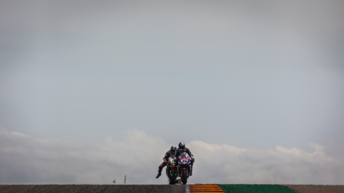 Toprak Razgatlioglu, Pata Yamaha with BRIXX WorldSBK, Alex Lowes, Kawasaki Racing Team WorldSBK, Aragon RACE 1