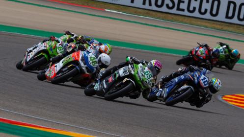 Unai Orradre, Yamaha MS Racing, Tom Booth-Amos, Fusport - Rt Motorsports by SKM Kawasaki, Aragon RACE 1