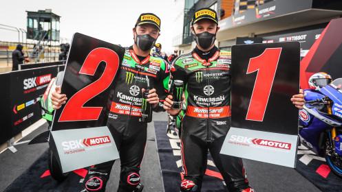 Alex Lowes, Jonathan Rea, Kawasaki Racing Team WorldSBK, Aragon Tissot Superpole RACE