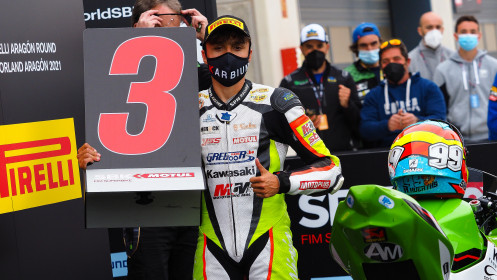 Adrian Huertas, MTM Kawasaki, Aragon RACE 2