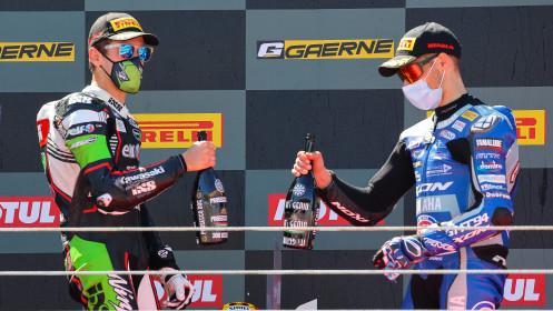 Philipp Oettl, Kawasaki Puccetti Racing, Jules Cluzel, GMT94 Yamaha, Estoril RACE 1