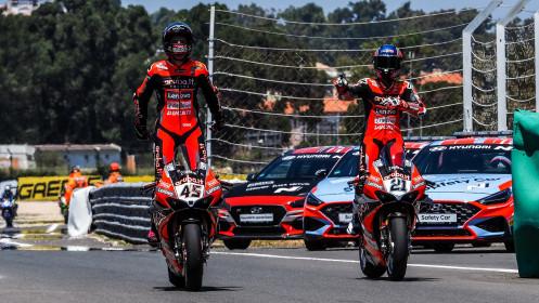 Scott Redding, Michael Ruben Rinaldi, Aruba.it Racing - Ducati, Estoril RACE 1
