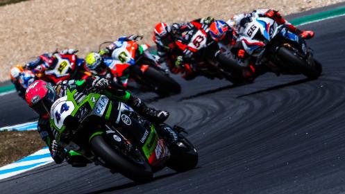 Lucas Mahias, Kawasaki Puccetti Racing, Estoril RACE 1