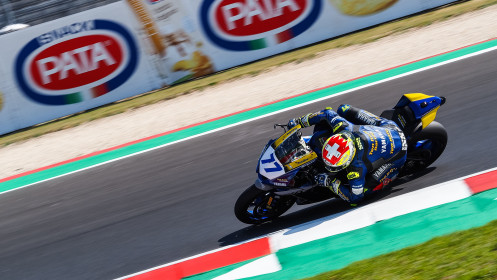 Dominique Aegerter, Ten Kate Racing Yamaha, Misano FP2