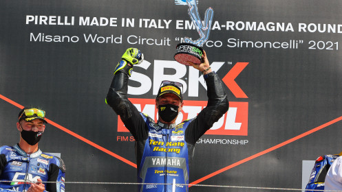 Dominique Aegerter, Ten Kate Racing Yamaha, Misano RACE 1