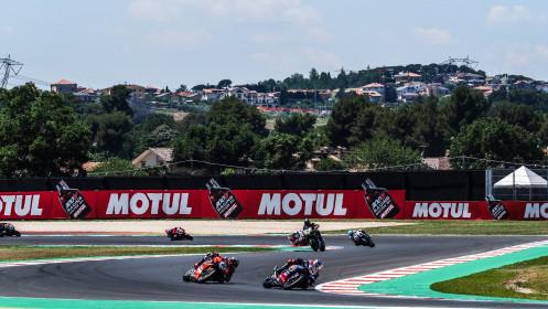 Toprak Razgatlioglu, Pata Yamaha with BRIXX WorldSBK, Scott Redding, Aruba.it Racing - Ducati, Misano RACE 1